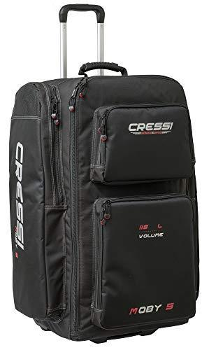 Cressi Unisex's Moby 5 Diving Bag, Black/Red Logo, 115 Litre