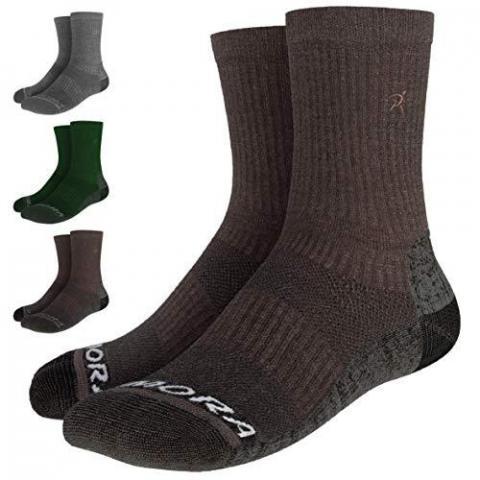 Rymora Merino Wool Walking Hiking Socks for Men & Women (Temperature Controlled Merino Wool for Optimal Thermal Performance, Seamless Toe Construction)