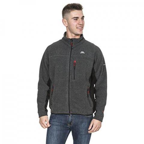 Trespass Jynx Mens Fleece Jacket in Grey & Black