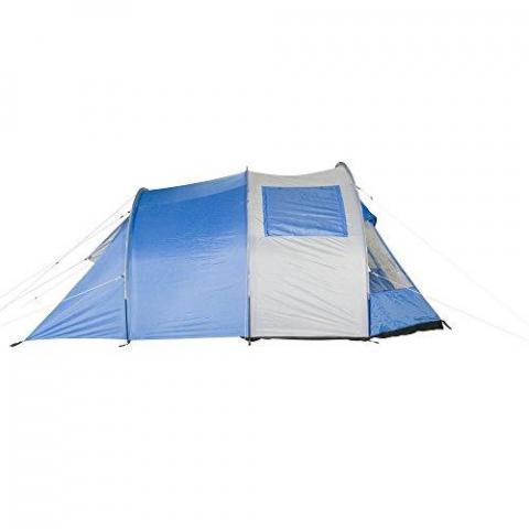 Fridani TSB 4 man tent tunnel tent 3000mm waterproof standing height ventilation blue
