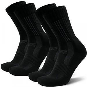 DANISH ENDURANCE Premium Merino Wool Hiking Socks 2 Pack, for Men & Women, Thermal, Anti-Blister