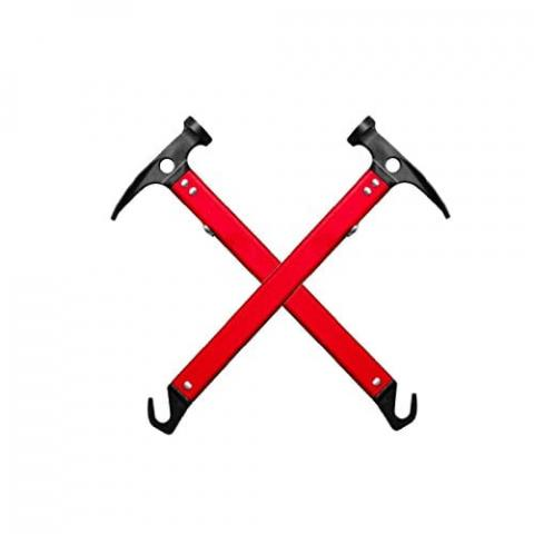 Aluminum Steel Multifunction Camping Mallet Ultra Light Hammer for Tent Pegs Nail Red