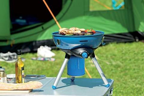 Campingaz Party Grill 400 Camping Stove, All in One portable Camping BBQ, Outdoor Grill & Stove, Small Gas Barbecue 2.000 Watt, Runs on CV 470 Plus Gas Cartridge