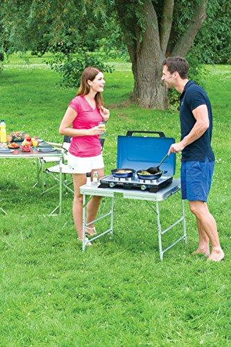 Campingaz Camping Stove 400S, Portable TwoBurner Gas Cooker with Windshield, 4.400Watt, Compact Outdoor Grill