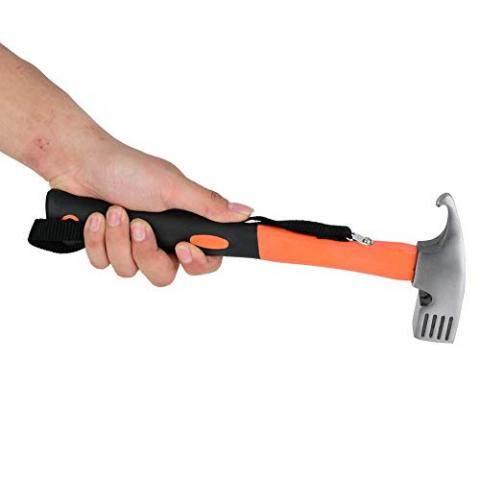 Zer one Outdoor Camping Framing Hammer Tent Hammer Camping Copper Stake Mallet Framing Hammer(Orange)