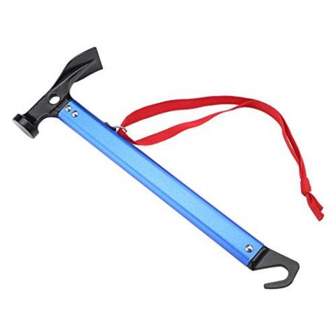 Yosoo Outdoor Camping Tent Peg Stake Hammer Nail Puller Extractor Multifunctional Tool With Aluminum Handle