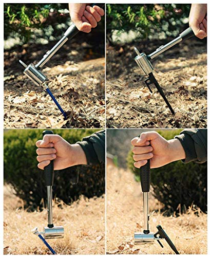 FireAngels Portable Outdoor Stainless Steel Camping Mallet Hammer Tent Peg Nail Puller Removal Tool
