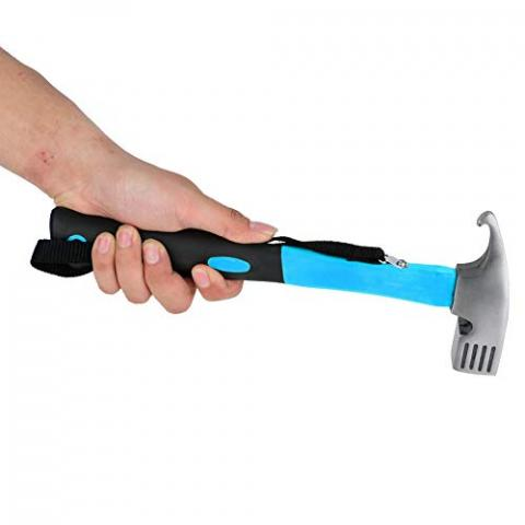 Zer one Outdoor Camping Framing Hammer Tent Hammer Camping Copper Stake Mallet Framing Hammer(Blue)