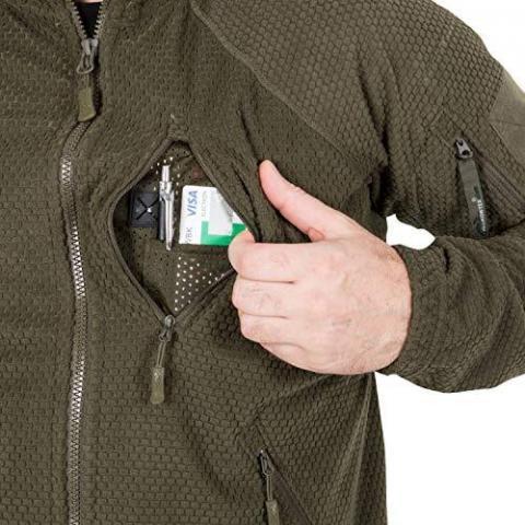 Helikon Men's Tex Alpha Tactical Grid Fleece Jacket