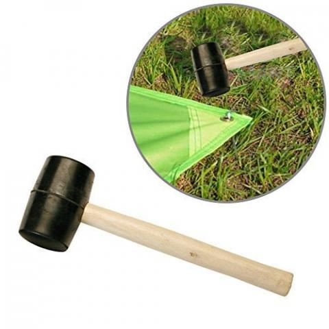 Durable Rubber/wooden Hammer Mallet for Camping, outdoor activities, tent pegs, DIY, Building, Racking