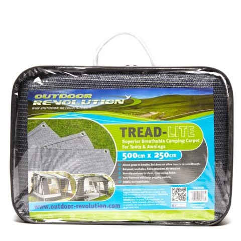 Blue Diamond Tread-Lite Camping Carpet 500 x 250cm, Grey