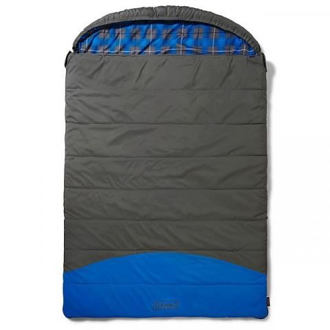 COLEMAN Basalt Double Sleeping Bag, GREY BLUE