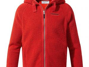 CRAGHOPPERS Kids' Brizio Fleece Jacket, RED
