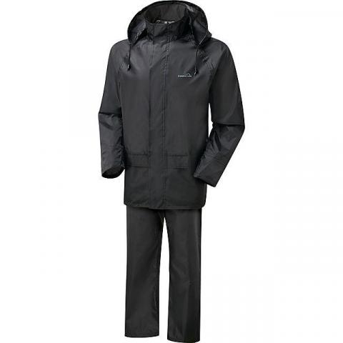 FREEDOMTRAIL Essential Waterproof Suit (Unisex), BLACK
