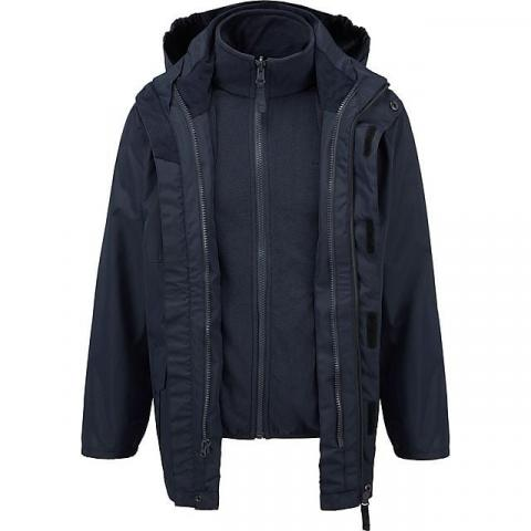 FREEDOMTRAIL Kids' Versatile 3-in-1 Jacket (13-16 years), NAVY