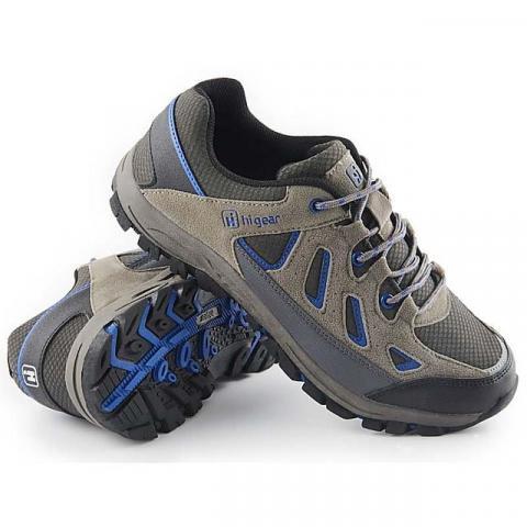 HI-GEAR Sierra II Men's Walking Shoes, GREY-NAVY