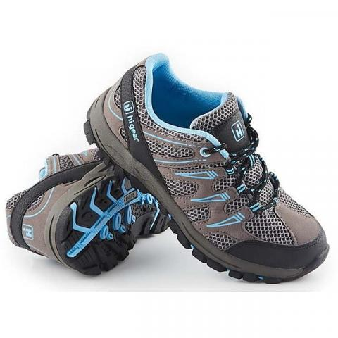 HI-GEAR Women's Sierra II Walking Shoes, GREY-SKY BLUE