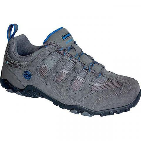 HI TEC Men's Quadra Classic WP Walking Shoe, CHARCOAL-BLUE