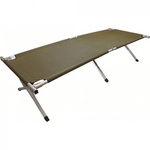 Highlander Mens Strong Sturdy Lightweight Aluminium Camping Bed One Size