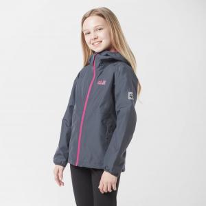 Jack Wolfskin Kids' Mount Luna Waterproof Jacket, Grey