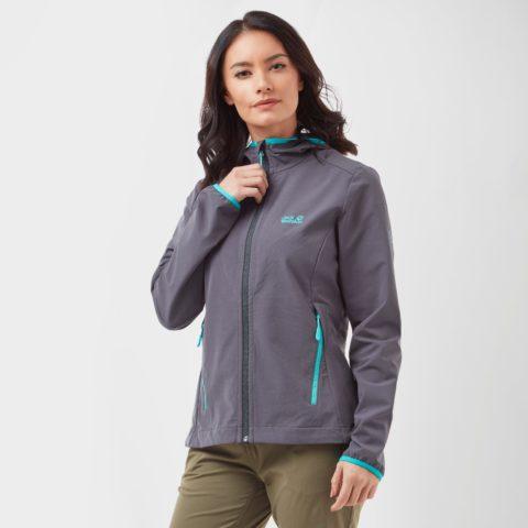 Jack Wolfskin Women's Turbulence Softshell Jacket - Grey, Grey