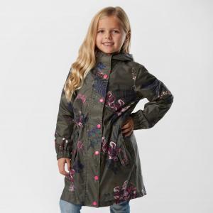 Joules Kids' GoLightly Waterproof Packaway Jacket, Khaki