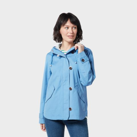 Joules Women's Coast Waterproof Jacket, Blue