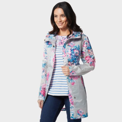 Joules Women's Golightly Waterproof Jacket, Grey