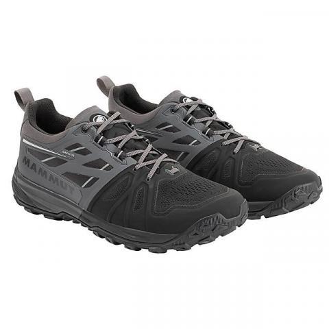 Mammut Men's Saentis Low Casual Shoes, BLACK GREY