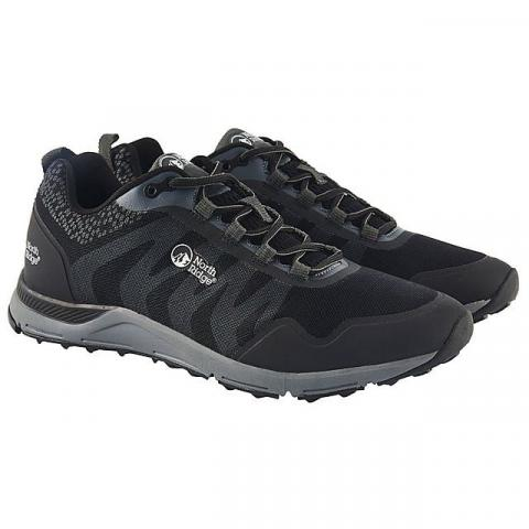 NORTH RIDGE Men's Pacer TR Running Shoes, BLACK SILVER