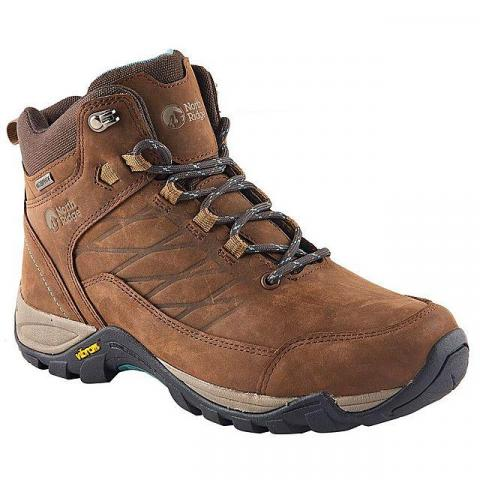NORTH RIDGE Women's Luxor 2 Mid Waterproof Walking Boots, BROWN