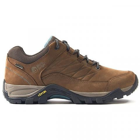 NORTH RIDGE Women's Luxor Low 2 Waterproof Walking Shoes, DARK BROWN