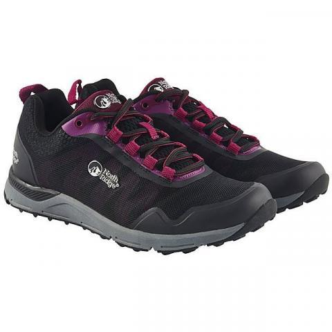 NORTH RIDGE Women's Pacer TR Running Shoes, BLACK PURPLE