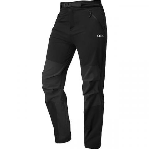 OEX Men's Strata Softshell Trouser (Regular length), BLACK