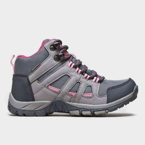 Peter Storm Girls' Headley Waterproof Mid Walking Boots, Grey