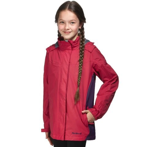 Peter Storm Girls' Hopedale Waterproof Jacket, Pink