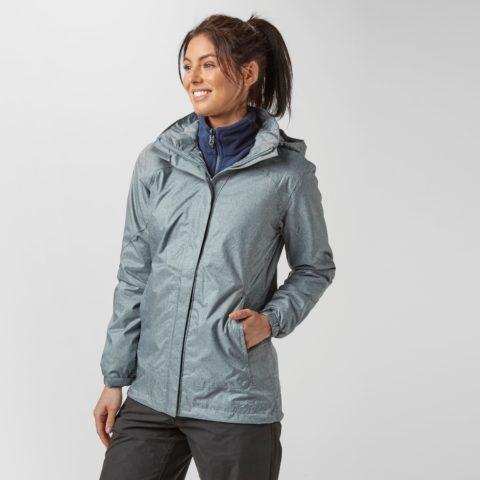 Peter Storm Women's Glide Marl Waterproof Jacket, Grey