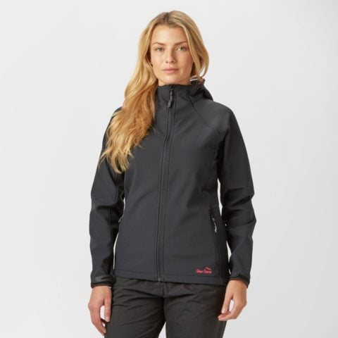 Peter Storm Women's Hooded Softshell Jacket - Black, Black