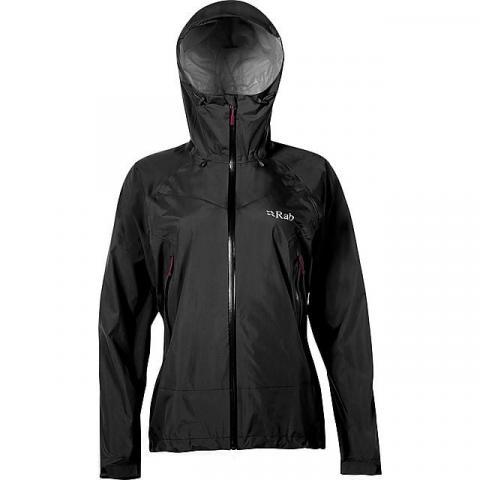 RAB Women's Downpour Plus Waterproof Jacket, BLACK