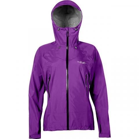 RAB Women's Downpour Plus Waterproof Jacket, NIGHTSHADE