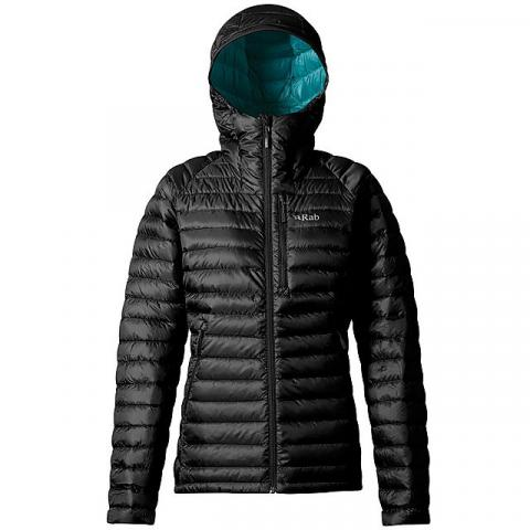 RAB Women's Microlight Alpine Long Down Jacket, BLACK
