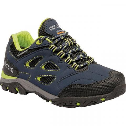 REGATTA Kids' Holcombe IEP Low Shoes, NAVY-LIME