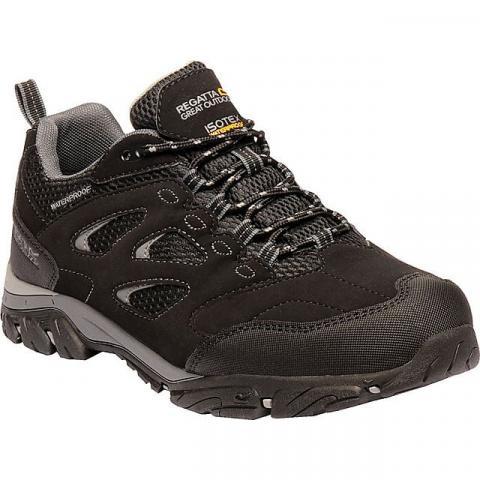 REGATTA Men's Holcombe IEP Low Shoes, BLACK-GRANITE