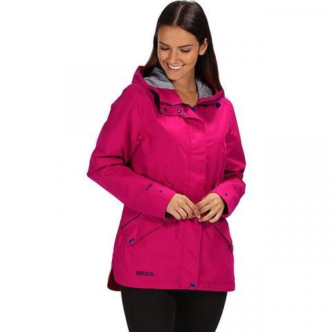 REGATTA Women's Basilia Waterproof Jacket, DARK PINK