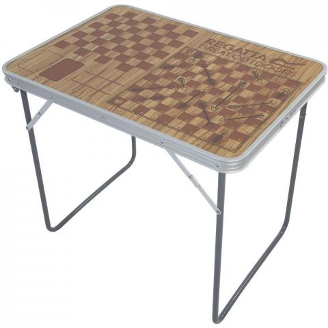 Regatta Board Games Foldable Aluminium Camping Table One Size