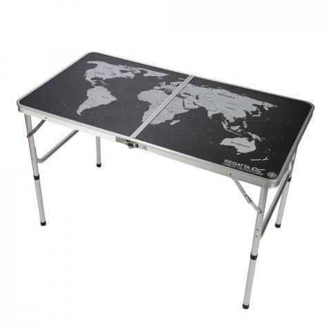 Regatta Folding Games Table - Black / Silver