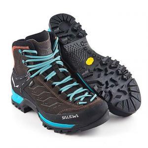 SALEWA Women's Mountain Trainer Mid GORE-TEX Walking Boo, MAGNET-GREEN