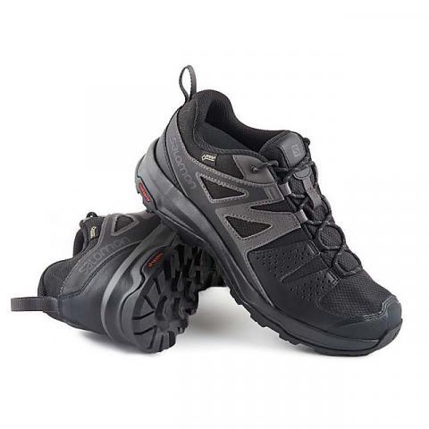 Salomon Men's X Radiant GTX Walking Shoe, BLACK-MAGNET
