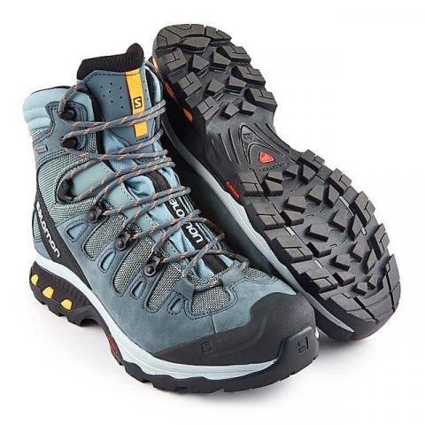 Salomon Quest 4D 3 GTX Women's Hiking Boot, LEAD-STORMY