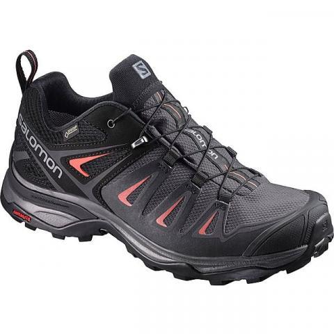 Salomon X Ultra 3 GTX Women's Hiking Shoe, MAGNET-MIN RED